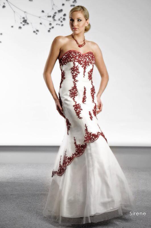 Svadobné šaty Sirene Red od Emil Halahija
