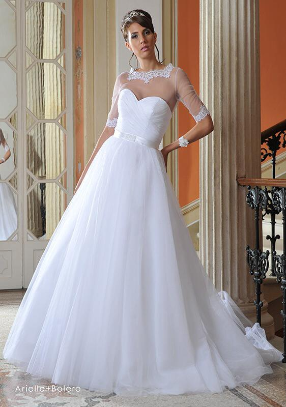 Svadobné šaty Ariele + Bolero od San Patrick